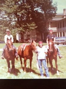 We spent many happy hours riding our horses together.